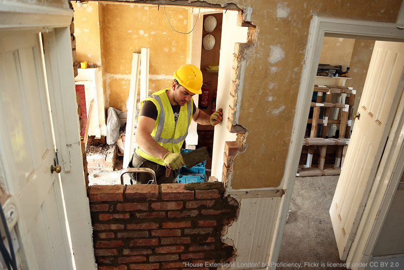 home extension construction work