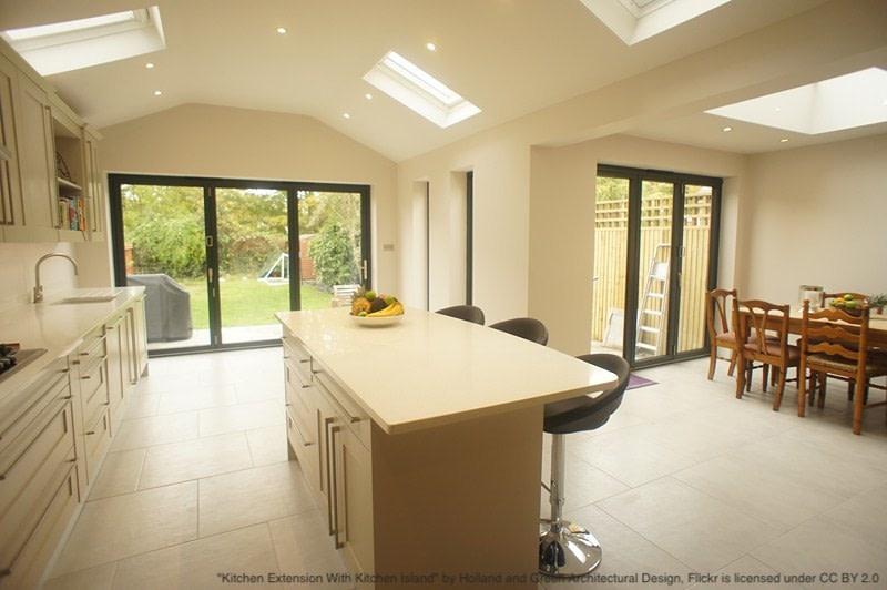 single storey rear kitchen extension interior