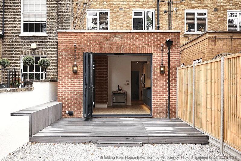 single storey rear conversion on brick home